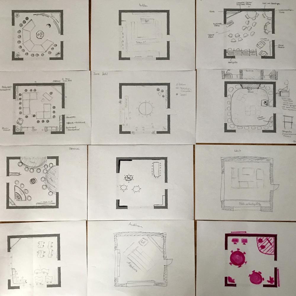 Skizzen der Studierenden